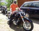 Tomasz przymierza sie do Hondy Shadows VT750