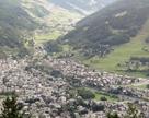 Bormio - widok z wioski Oga gdzie mieliśmy nocleg