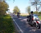 Borys 1 - go maja z Watahą na przejażdżce motocyklowej.