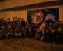 Wspólne zdjęcie wszystkich twórców muralu