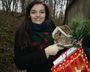 Agnieszka z prezentem