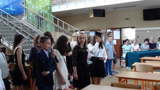 Uroczyste zakończenie roku szkolnego 2015/2016- klasy VI