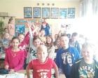 Klasa IVd, która aktywnie uczestniczy w lekcjach przyrody i jest ciekawa świata
