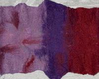 Szalokołnierz dwustronny filcowany na mokro z czesanki merynos 21 mikronów na tkaninie. Cena: 40,00 PLN