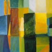 Kompozycja, akryl, 80x100