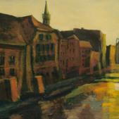 Wenecja opolska, akryl, 60x80