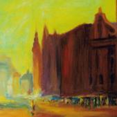 Opole dawniej I, akryl, 70x100