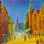 Opole dawniej II, akryl, 80x100