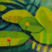 Lilie wodne, akryl, 65x80
