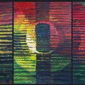 Zachód słońca II, akryl, 100x210, 2012r.