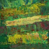 Trawy I, akryl, karton 37x48