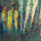 Trawy V, akryl, karton 37x48