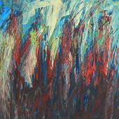 Trawy VI, akryl, karton 37x48