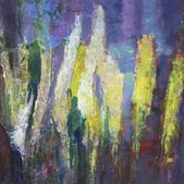 Trawy VII, akryl, karton 37x48
