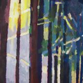 W cieniu balkonu I, akryl, karton,100x70