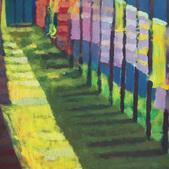 W cieniu balkonu II, akryl, karton,100x70