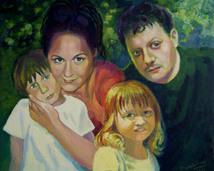 Rodzina Marzeny, akryl, 60x50 (sprzedany)