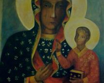 Matka Boska Częstochowska, akryl, 100x80
