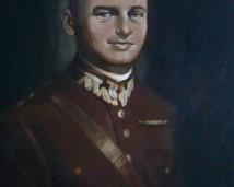 Rotmistrz Witold Pilecki, akryl 100x70
