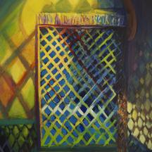Impresja marokańska I, akryl, 100x80