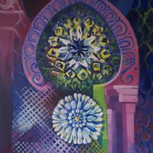 Impresja marokańska III, akryl, 100x80