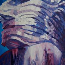 Impresje z podróży - Praga, akryl, 100x70