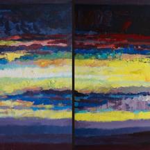 Za oknem, akryl,70x200
