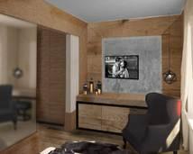 pokój hotelowy - projekt
