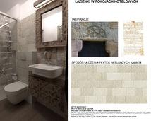 łazienka w hotelu - projekt
