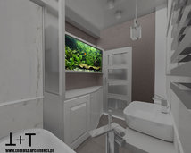 akwarium w łazience - projekty