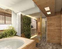 projekt sauny z wanna spa