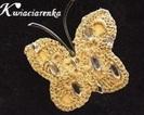 Motyl -szydełkowa dekoracja