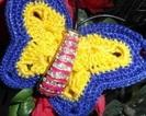 Szydełkowy motylek