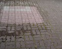 Próbka czyszczenia kostki cementowej