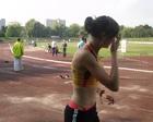 Marlena przed startem na 400 m