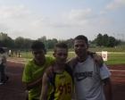 Ernest Damian i Kamil przed biegiem na 800 m