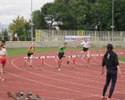 Michał w biegu na 300 m przez płotki