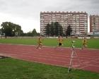 Ostatnie metry biegu Kuba Damian i Ernest
