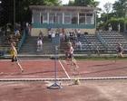 Damian na mecie biegu na 300m