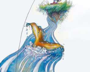 """Ilustracja do """"Jak chłopczyk łapał wielką rybę"""""""