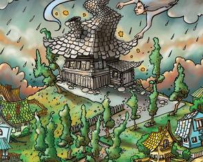 Ilustracja do książki na konkurs. 2015