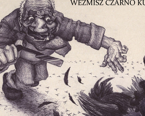 """Ilustracja na okładkę do opowiadania Andrzeja Pilipiuka  """"Weźmisz czarno kure..."""" 2010"""