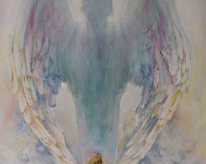 """""""Anioł Stróż"""", 70x50, akryl na płótnie"""
