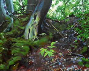 """""""Drzewo"""" akryl na płótnie, 2013 r."""