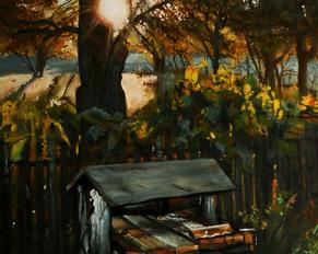 """""""O świcie"""", akryl na płótnie, 2014"""