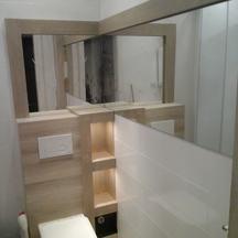 drewniane lustra łazienkowe  z oświetleniem  wrocław