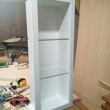 szafka łazienkowa do zabudowy z litego drewna na zamówienie stolarz wrocław