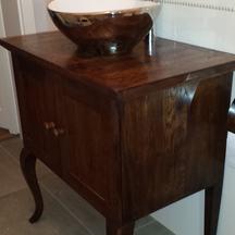 dębowa szafka  łazienkowa na zamówienie  olejowana wrocław