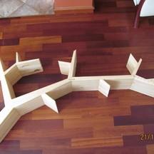 półka drewniana drzewo na zamówienie wrocław stolarz
