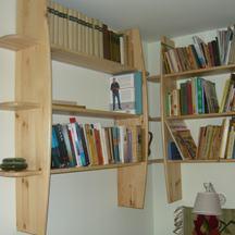 narożnikowy regał na książki  wiszący wrocław sępolno